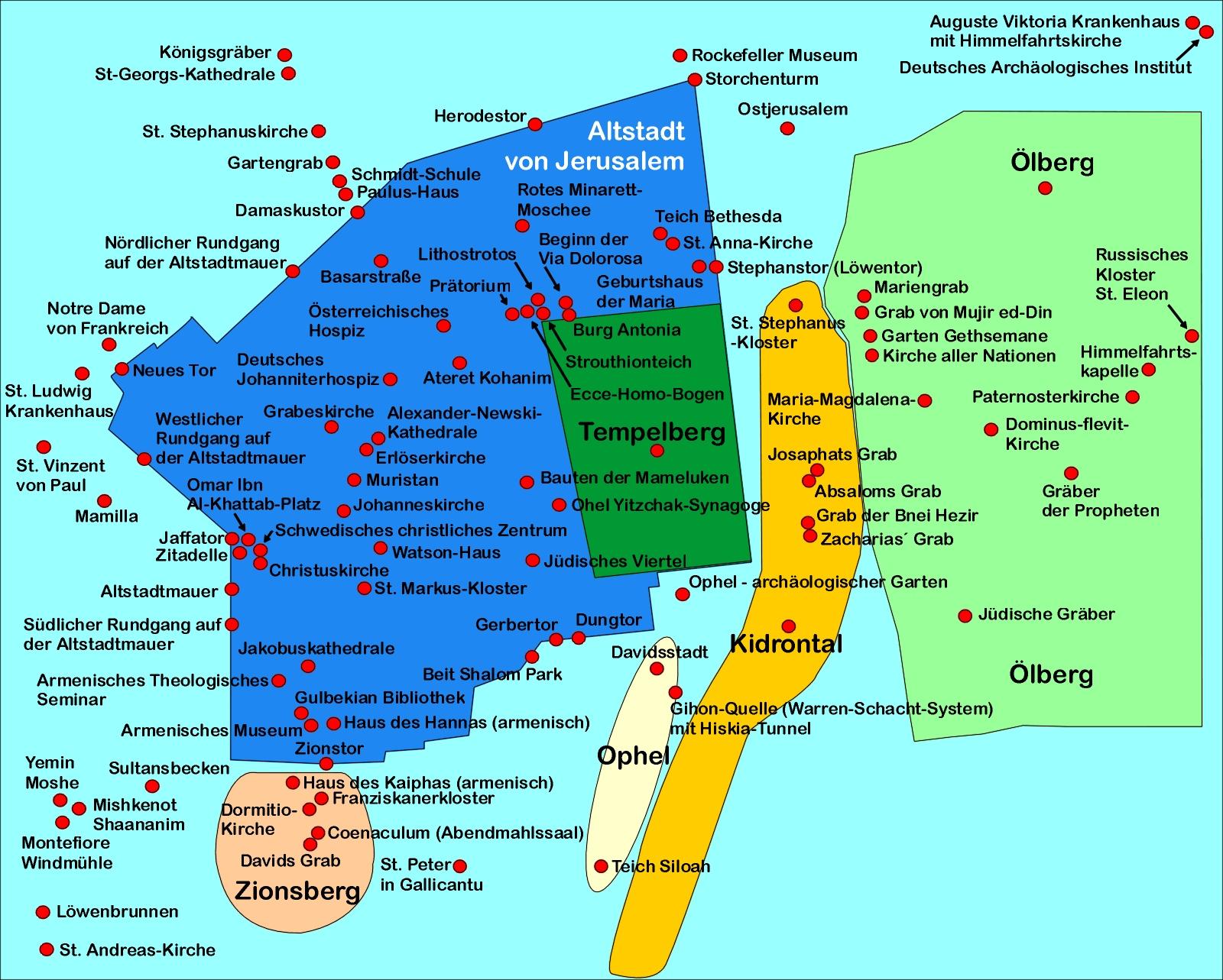 Israel Jerusalem Karte.Sehenswurdigkeiten In Jerusalem Altstadt Bilderserie Fotos Dsl