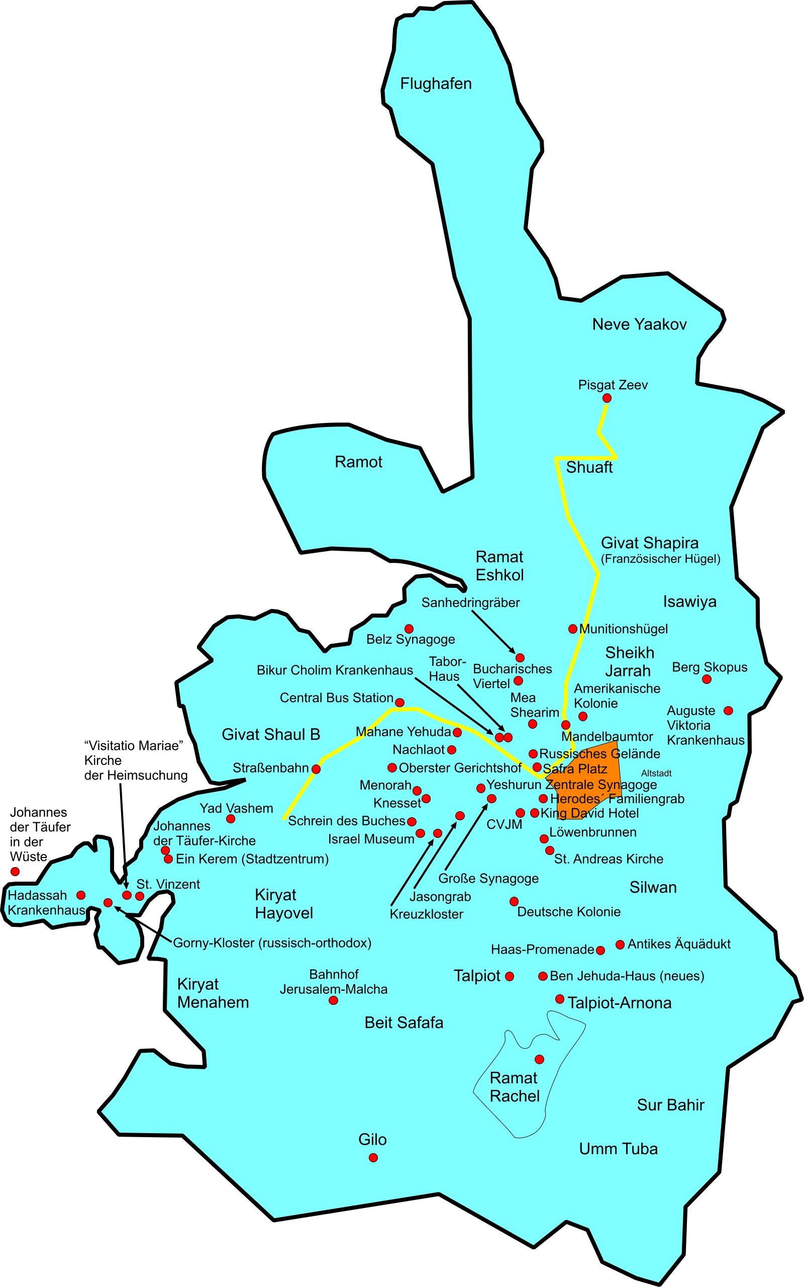 jerusalem karte Sehenswürdigkeiten in Jerusalem (Altstadt) Bilderserie Fotos DSL