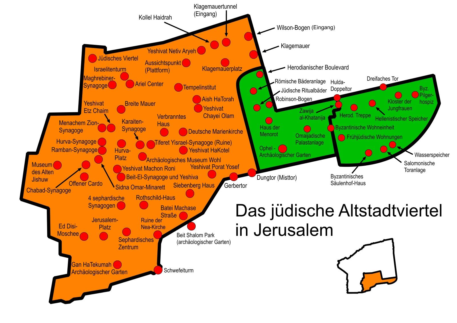 Jerusalem Karte Heute.Sehenswurdigkeiten In Jerusalem Altstadt Bilderserie Fotos Dsl