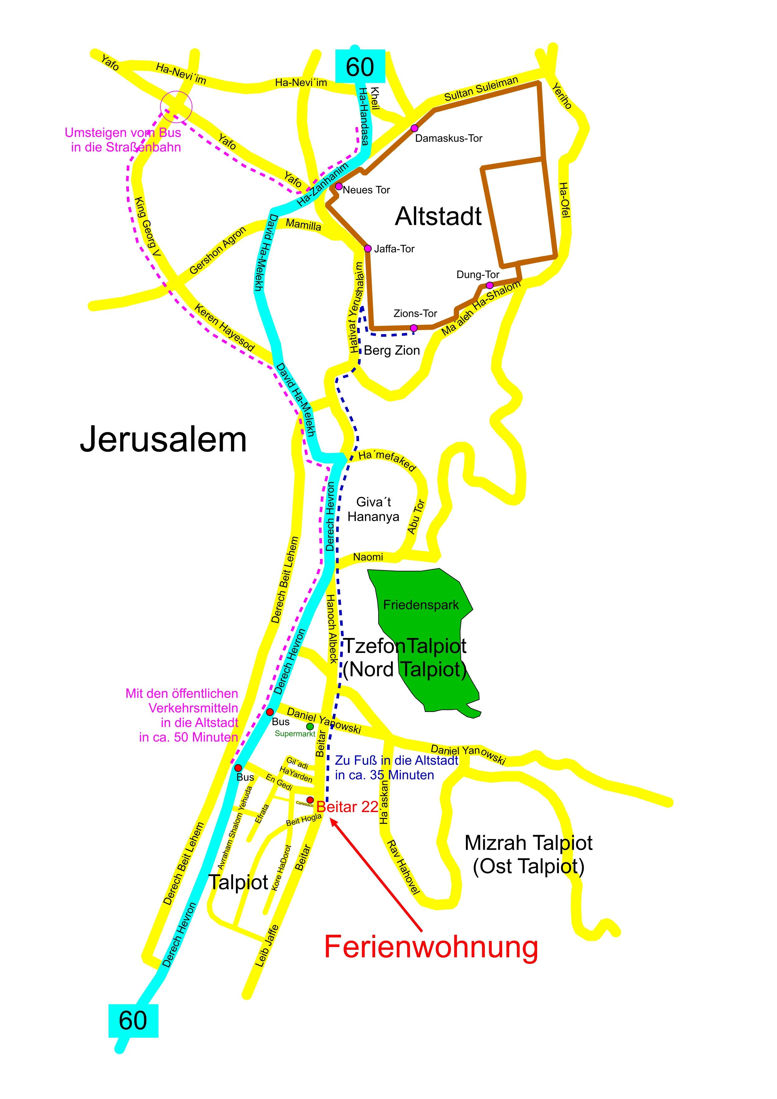 Jerusalem Karte Deutsch.Sehenswürdigkeiten In Jerusalem Altstadt Bilderserie Fotos Dsl